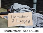Homeless And Hungry Man...