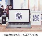 business it mockup  notebook... | Shutterstock . vector #566477125