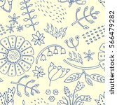 floral seamless pattern with... | Shutterstock .eps vector #566479282