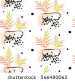 hand made vector abstract... | Shutterstock .eps vector #566480062
