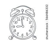 alarm clock sketch | Shutterstock .eps vector #566486332