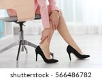 Woman Suffering From Leg Pain...