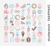 49 hand drawing doodle...   Shutterstock . vector #566494642