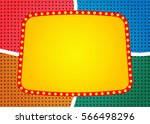 retro banner on colorful... | Shutterstock .eps vector #566498296