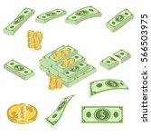 set a various kind of money.... | Shutterstock .eps vector #566503975
