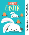Stock vector easter bunny egg hunt template vector illustration 566507026