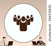 group of people icon  friends... | Shutterstock .eps vector #566510632