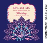 vintage invitation and wedding... | Shutterstock .eps vector #566519152