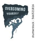silhouette of a climber. | Shutterstock .eps vector #566521816
