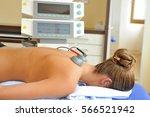 electric stimulator tens... | Shutterstock . vector #566521942
