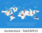 global worldwide communication... | Shutterstock .eps vector #566530915