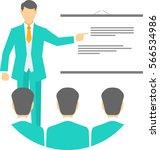 man teaching the students | Shutterstock .eps vector #566534986