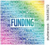 funding word cloud collage ... | Shutterstock .eps vector #566538172
