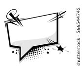 blank template comic text... | Shutterstock .eps vector #566544742