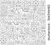 pattern amusement park with... | Shutterstock .eps vector #566546482
