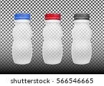 transparent empty plastic...