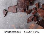 cocoa powder. chocolate bar... | Shutterstock . vector #566547142