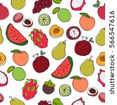 seamless pattern with colorful... | Shutterstock .eps vector #566547616
