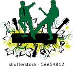 concert grunge background | Shutterstock .eps vector #56654812