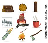 lumberjack  timber and... | Shutterstock .eps vector #566557705
