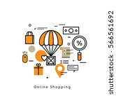 online shopping and promotions...   Shutterstock .eps vector #566561692