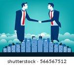 business team shaking hands... | Shutterstock .eps vector #566567512