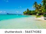 amazing white beaches of... | Shutterstock . vector #566574382