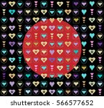 seamless pattern  of hearts for ... | Shutterstock .eps vector #566577652