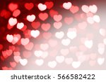 red and white hearts bokeh as... | Shutterstock . vector #566582422
