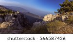 view from ai petri mountain.... | Shutterstock . vector #566587426