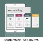 accounting trade economy... | Shutterstock . vector #566587795