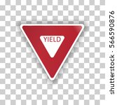 vector illustration of a yield... | Shutterstock .eps vector #566590876