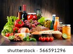 composition with variety of... | Shutterstock . vector #566591296