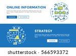 doodle web banners vector... | Shutterstock .eps vector #566593372