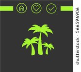 Palm Trees. The Web Icon. Logo