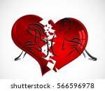 silhouettes of young couple and ... | Shutterstock .eps vector #566596978