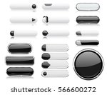 black and white menu buttons.... | Shutterstock .eps vector #566600272