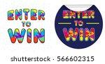 enter to win vector sign set | Shutterstock .eps vector #566602315