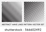 set of wave oblique smooth... | Shutterstock .eps vector #566602492