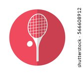 simple flat design tennis icon...