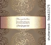 wedding invitation or card  ... | Shutterstock .eps vector #566622175