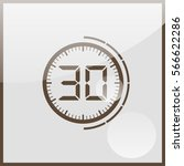 electronic timer 30 seconds | Shutterstock .eps vector #566622286