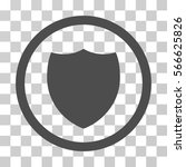 shield rounded icon. vector... | Shutterstock .eps vector #566625826