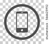 smartphone rounded icon. vector ... | Shutterstock .eps vector #566625952