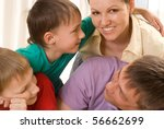 parents with their two children ... | Shutterstock . vector #56662699