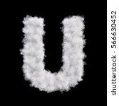 capital letter u font of white... | Shutterstock . vector #566630452