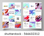business templates for brochure ... | Shutterstock .eps vector #566632312