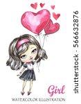 lovely hand drawn illustration. ... | Shutterstock . vector #566632876