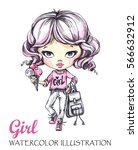 hand drawn illustration....   Shutterstock . vector #566632912