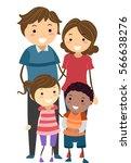 stickman family illustration... | Shutterstock .eps vector #566638276